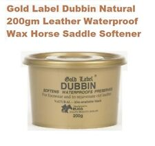 Gold Label Dubbin Natural 200g Leather Waterproof Wax Horse Saddle Softener Ride