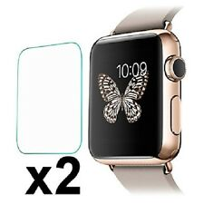 2 x TEMPERED GLASS FILM SCREEN PROTECTORS For The APPLE WATCH IWATCH 38mm 42mm
