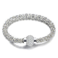 Silver Crystal Bracelet Fashion Xmas Gifts for Her Wife Mum Daughter Lady Women