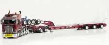 Drake K200 Prime Mover with Drake 2x8 Dolly 3x8 Swingwing Trailer Burgundy 1:50