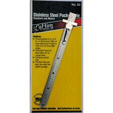Stainless Steel Pocket Rule -- Standard and Metric