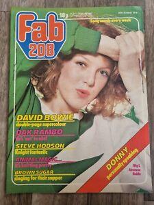 Fab 208 Magazine 20th October 1979-David Bowie/Donny Osmond/Police/Rod Stewart