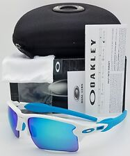 NEW Oakley Flak 2.0 XL sunglasses Matte White Sapphire 9188-02 blue XLJ Jacket