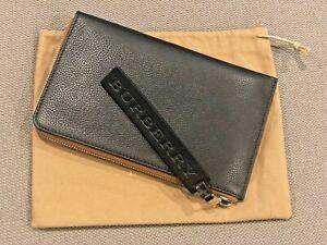 Burberry Black Slim Nolan Travel Wallet
