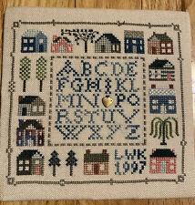 Small Cross Stitch ABC Sampler On Linen