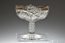 ca. 1898 SUNBEAM McKee & Brothers CLEAR W/GOLD Small / Jelly Compote