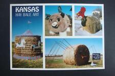 832) KANSAS HAY BALE ART PIGGY BANK SPIDER TURKEY LITTLE PIG AND MERRY GO ROUND