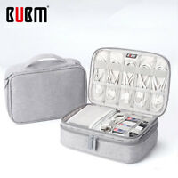 BUBM Digital Organizer Power Bank Earphone Charger Cable USB Hard Disk iPad Bag