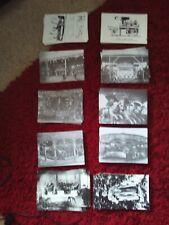 Fairground Postcards x 10 black and white