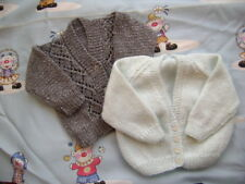 "2 New Hand Knitted Cardigans 20/22"" chest"