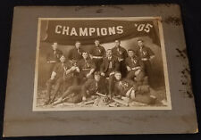1905 VICTORIA BASEBALL TEAM CHAMPIONS - CABINET PHOTO - QUEBEC CANADA - ORIGINAL