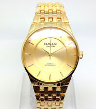 078o OMAX Men's Boys Slim Dress Wrist Watch Classic New Gold Strap Dial Quartz