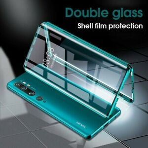 For Xiaomi Mi 10 Pro 5G Double Sided Tempered Glass Case Magnetic Metal Cover