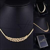 Geschenk Collier Greek, Halskette Damen Gelb-Gold, im Etui, Schmuckhandel Haak?