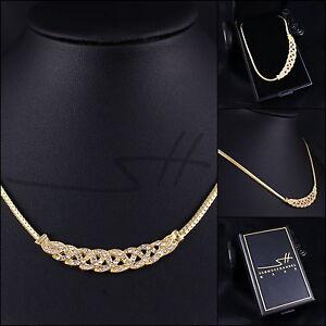 Geschenk Collier Greek, Halskette Damen Gelb-Gold, im Etui, Schmuckhandel Haak®