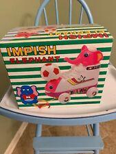 Vintage Lih Yih Toys Impish Elephant Soccer/Football Shoe-Car String Pull-Toy