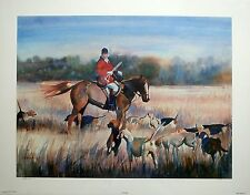 """Vivien Weller """"The Master"""" fox hunt with horse, rider, and hounds  LTD ED S/N"""