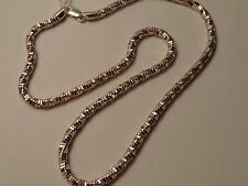 "Unisex Sterling Silver 925 Twisted Box Link Polished 20"" Chain 3/16"" Wide"