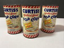 Rare Lot Of 3 Curtiss Golden Giant Pop Corn Tin Cans 1946