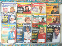 Sew News Magazine Lot Of 12 All Issues of 2000 January - December