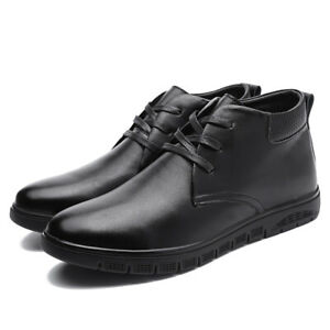 Mens High Top Business Ankle Boots Shoes Pumps Fur Inside Warm Walking Sports Sz