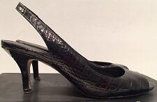Authentic Banana Republic Black Croc Silvia sandals leather 7.5