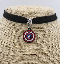 Captain America Shield Oil Painted Pendant Jewelry Choker Collar Bib Necklace#14