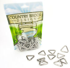 10 - Country Brook Design® 1 Inch Welded Triangle Rings