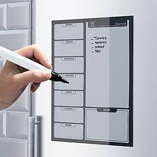 Placa Magnética de Refrigerador y pluma aviso Memo Drywipe pizarra A3 al día Planificador