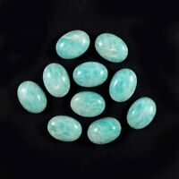 Wholesale Lot !! 5x7 TO 10X14 MM Oval Cabochon Natural AMAZONITE Loose Gemstone
