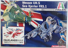 AVIATION : WESSEX UH.5 & SEA HARRIER FRS.1 1/72 SCALE MODEL KIT SET BY ITALERI