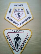 Vintage Armed Forces Motorcycle Safety Patches