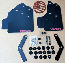 "[SR] 08-11 WRX & 2.5i Impreza Mud Flaps Set BLACK w/ Hardware Kit & ""WRX"" Vinyl"