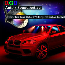 3W Car RGB DJ Disco Sound Activated Magic Ball LED Party Stage Light For Hummer