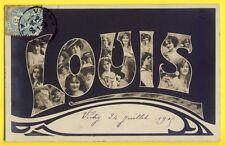 cpa de 1905 Fantaisie ART NOUVEAU Fête des Prénoms Saint LOUIS Femmes NEW ART