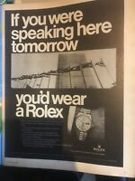 1967 Rare Rolex Day Date vintage watches Print Ad advertising Retro