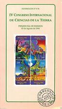 Chile 1996 Brochure IV Congreso Internacional de Ciencias de la Tierra