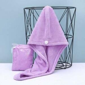 MAGIC MICROFIBRE HAIR TOWEL WRAP HEAD TURBAN BATH CAP HAT DRAYER QUICK DRY TWIST
