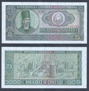 Romania 25 LEI 1966 (UNC) E 0117 536693