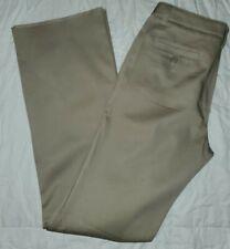 LANDS END Khaki School Uniform Straight Leg Chino Pants Girls 12