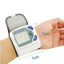 Wrist Cuff LCD Digital Blood Pressure Pulse Monitor High Quality Battery Hand