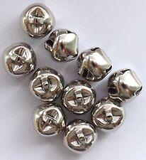 10 x Silver Coloured 15mm Hawk Bells/Jingle Bells for Clothes / Decorative Use