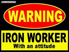 HARD HAT STICKERS, IRON WORKER CIW8A