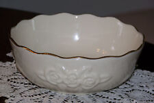 Lenox - Small Cream White Bowl with Embossed Roses