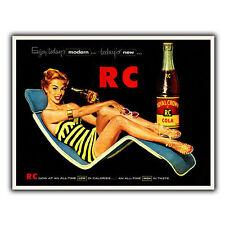 RC Cola vintage con pubblicità In Metallo Muro Firmare La Placca Stampa Da Cucina Bar Cafe