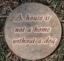 Dog puppy mold plaster concrete Memorial dog stone plaque plastic mould