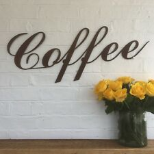 Rusty Coffee Lettering Letters Sign Metal Shop Front Home Bar Pub Cafe Bistro