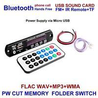 Wireless Bluetooth 12V MP3 WMA Decoder Board Audio Module for Car #Y