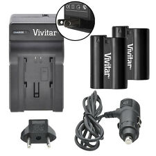 Vivitar Dual Battery EN-EL15 & Charger Kit for Nikon D800 D800E D810 1 V1