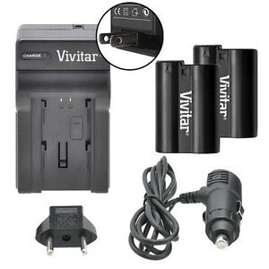 Vivitar Dual Battery EN-EL15 & Charger Kit for Nikon D800 D800E D810 1 V1